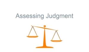 Assessing Judgment module