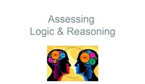 Assessing Logic & Reasoning module