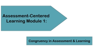 Assessment-Centered Learning Module 1: Congruency in Assessment & Learning