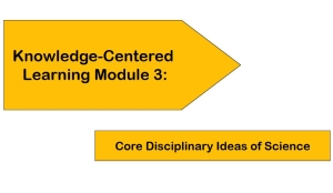 Knowledge-Centered Learning Module 3: Core Disciplinary Ideas of Science