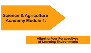 Science & Agriculture Academy Module 1: Aligning Four Perspectives of Learning Environments