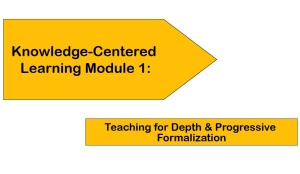 Knowledge-Centered Learning Module 1: Teaching for Depth & Progressive Formalization